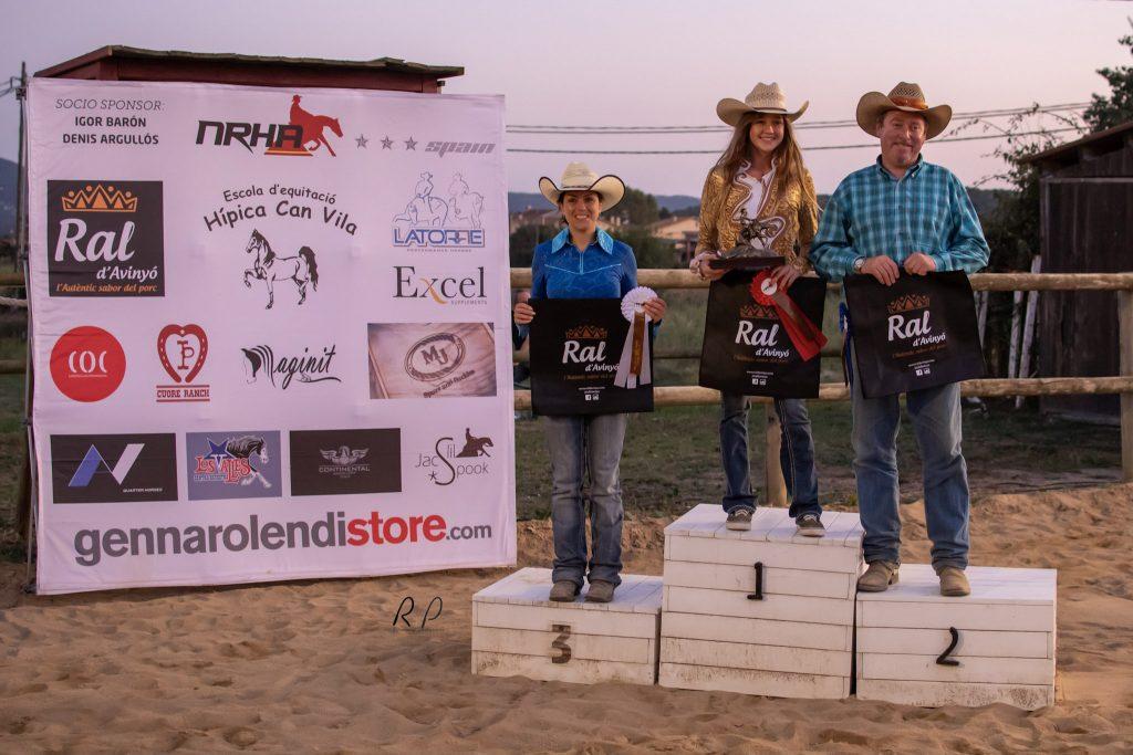 Novice Horse Non Pro Level 2: Lisa Weiss,  Champion 2019.  Fco. Javier González Merino, Reserve Champion.  Miriam Perera es 3ª
