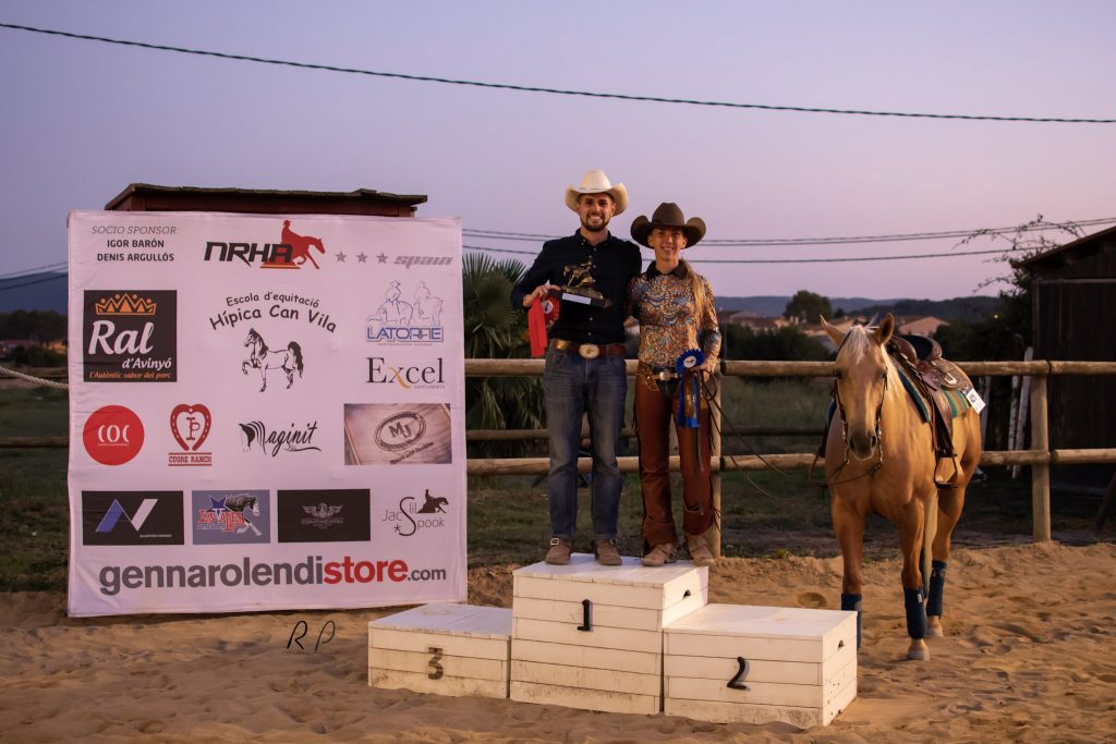 NRHA Spain Limited Open 2019; Champion Adrian Zornoza y Reserve Champion Miriam Miralles