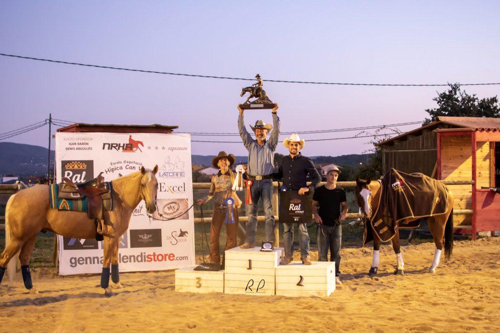 NRHA Spain Open 2019; Champion, José Gutiérrez; Reserve Champion, Adrian Zornoza; 3ª Miriam Miralles